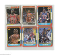 Basketball Cards:Lots, 1986-88 Fleer Basketball Card Lot of 6....