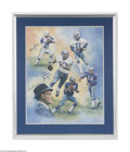 Football Collectibles:Others, Dallas Cowboys Greats Signed Lithograph....