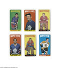 Hockey Cards:Lots, 1964-65 Topps Hockey Lot of 6....