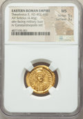 Ancients:Roman Imperial, Ancients: Theodosius II, Eastern Roman Empire (AD 402-450). AVsolidus (21mm, 4.46 gm, 6h). NGC MS 5/5 - 3/5....