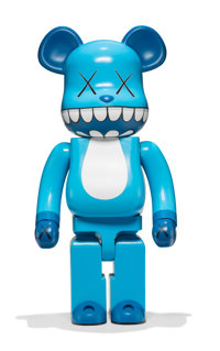 KAWS X BE@RBRICK Chompers 1000%, 2003 Painted cast vinyl 28 x 13-1/4 x 9-1/2 inches (71.1 x 33.7