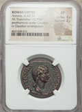 Ancients:Roman Imperial, Ancients: Antonia Minor, mother of Claudius (died AD 37). AEdupondius (28mm, 12.90 gm, 6h). NGC XF 4/5 - 3/5....