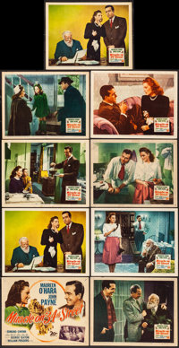 "Miracle on 34th Street (20th Century Fox, 1947) Fine+. Lobby Card Set of 8 and Lobby Card (11"" X 14""). Comedy..."