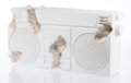 Prints & Multiples:Contemporary (1950 to present), Daniel Arsham (American, b. 1980). Radio (Fr-08), 2017. Plaster with glass fragments. 8-3/4 x 17 x 3 inches (22.2 x 43.2...