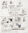 Animation Art:Concept Art, Oliver and Company Story Development Art Group of 6 (WaltDisney, 1988).... (Total: 6 Items)