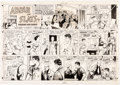 Original Comic Art:Comic Strip Art, Raeburn Van Buren Abbie an' Slats Sunday Comic StripOriginal Art dated 12-9-51 (United Feature Syndicate, 1951). ...