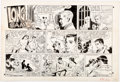 Original Comic Art:Comic Strip Art, Bob Lubbers Long Sam Sunday Comic Strip Original Art dated 10-2-55 (United Feature Syndicate, 1955)....