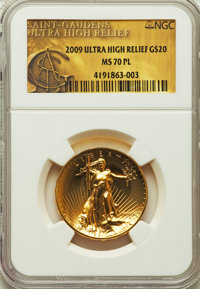 2009 $20 One-Ounce Gold Ultra High Relief Twenty Dollar MS70 Prooflike NGC....(PCGS# 506602)