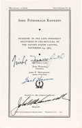 Political:Small Paper (1896-present), [John F. Kennedy]: Thrice-Signed Eulogies Booklet....