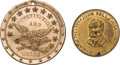 Political:Tokens & Medals, John Bell: Pair of Campaign Tokens in Superlative Condition. ... (Total: 2 Items)