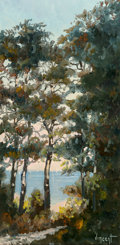 Fine Art - Painting, American, Vincent (French, 20th Century). Ty An Lannec, Bretagne. Oilon canvas. 30 x 15 inches (76.2 x 38.1 cm). Signed lower rig...
