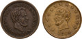 Political:Tokens & Medals, Abraham Lincoln: Pair of Civil War Tokens.... (Total: 2 Items)