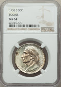 Commemorative Silver, 1938-S 50C Boone MS64 NGC. NGC Census: (136/290). PCGS Population: (232/453). CDN: $330 Whsle. Bid for problem-free NGC/PCG...