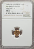 India:British India, India: British India. Madras Presidency gold Pagoda ND (1740-1807) AU55 NGC,...
