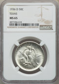 Commemorative Silver, 1936-D 50C Texas MS65 NGC. NGC Census: (447/1001). PCGS Population: (765/1457). CDN: $175 Whsle. Bid for problem-free NGC/P...