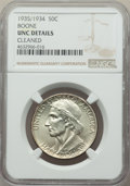 Commemorative Silver, 1935/34 50C Boone -- Cleaned -- NGC Details. Unc. NGC Census: (0/1328). PCGS Population: (0/2058). CDN: $110 Whsle. Bid for...