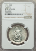 Commemorative Silver, 1921 50C Pilgrim -- Cleaned -- NGC Details. Unc. NGC Census: (1/2082). PCGS Population: (2/2953). CDN: $150 Whsle. Bid for ...