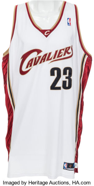 62d452c8c6f ... australia basketball collectiblesuniforms 2003 04 lebron james game  worn cleveland cavaliers rookiejersey. 1079a 7c3fe