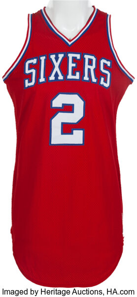 9adb9e4cc9b ... basketball collectiblesuniforms 1982 83 moses malone game worn philadelphia  76ers jersey.