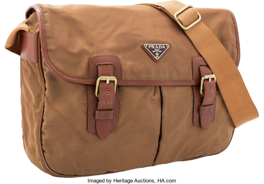8945c2f47a ... promo code for very goodcondition luxury accessoriesbags prada brown  tessuto leather crossbody bag. 2937c 96f03