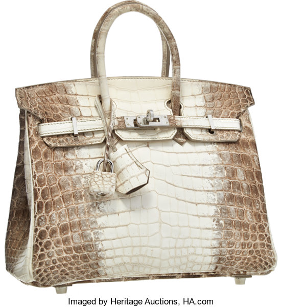 615ed808d6e ... clearance luxury accessoriesbags hermes 25cm matte white himalayan nilo  crocodile birkin bag withpalladium hardware 1273f fc382