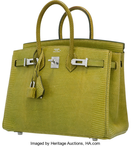 37958d6ffef czech hermes 25cm vert anis lizard birkin bag with palladium lot 58048  heritage auctions 6acf6 4dd3a