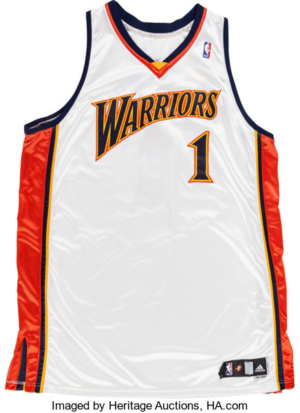 7130de454 ... where can i buy basketball collectiblesuniforms 2007 08 stephen jackson game  worn golden state warriors jersey