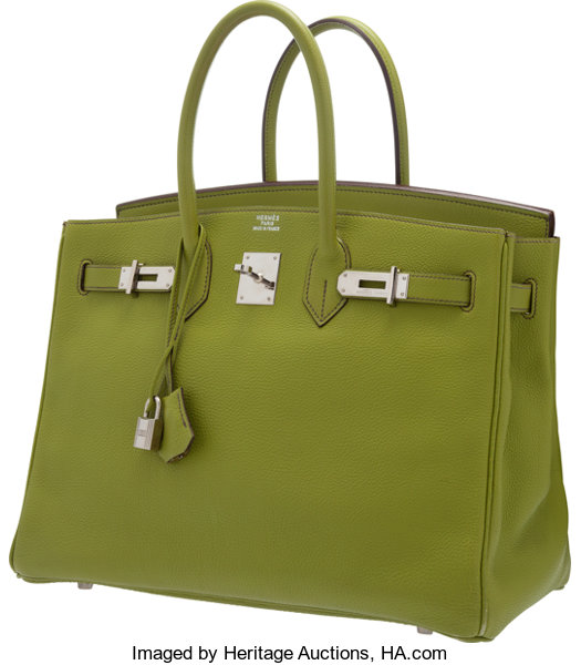 5bc78ce615 ... norway hermes 35cm vert anis togo leather birkin bag with lot 58063  heritage auctions 39369 51311