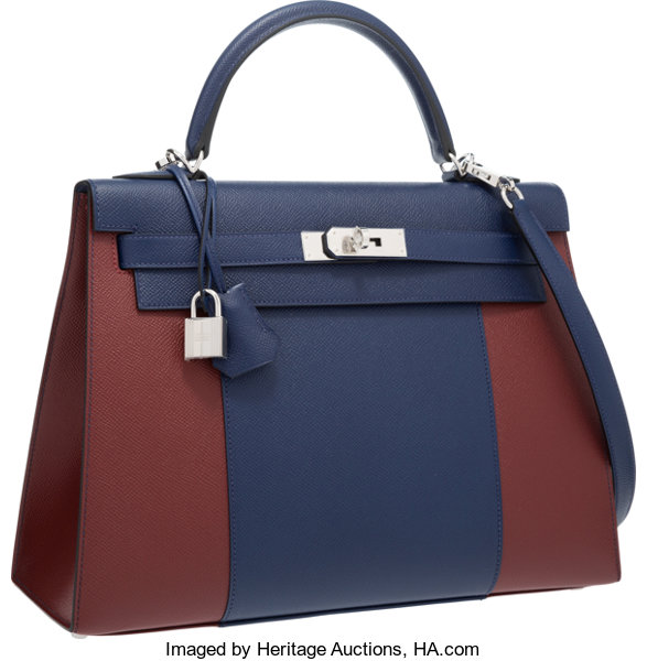 bab93f8e3979 free shipping luxury accessoriesbags hermes limited edition 32cm blue  saphir rouge h epsom deb66 f2845
