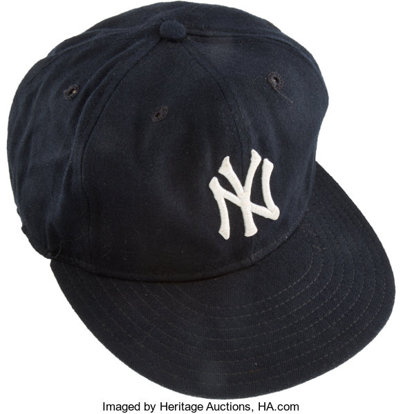 a9e375eddd4 reduced baseball collectibleshats 1980s don mattingly game worn new york  yankees cap earlysignature 7c15e d51f1