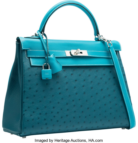0df6d1dbaaad ... cheapest luxury accessoriesbags hermes limited edition 32cm cobalt  ostrich blue jean swift amp 8d844 9c109