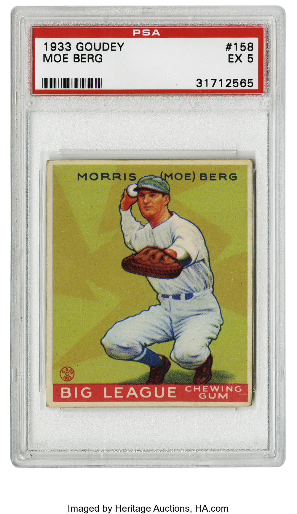 Auction Prices Realized Baseball Cards 1933 Goudey Moe Berg