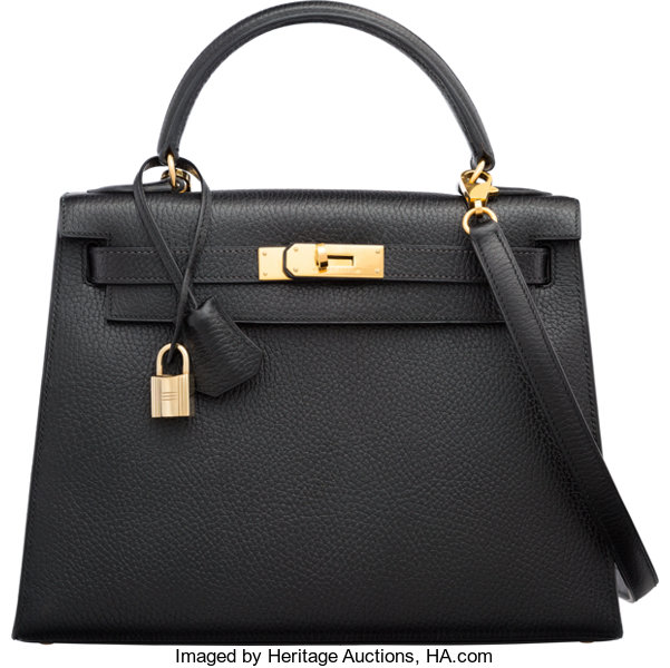 c00287f1d100 ... promo code for luxury accessoriesbags hermes 28cm black ardennes  leather sellier kelly bag with goldhardware.