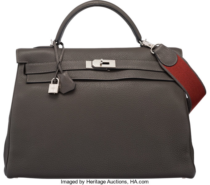 296f2ca4056 ... australia luxury accessoriesbags hermes 40cm graphite clemence leather retourne  kelly bag withpalladium hardware. a3f51 af2cf