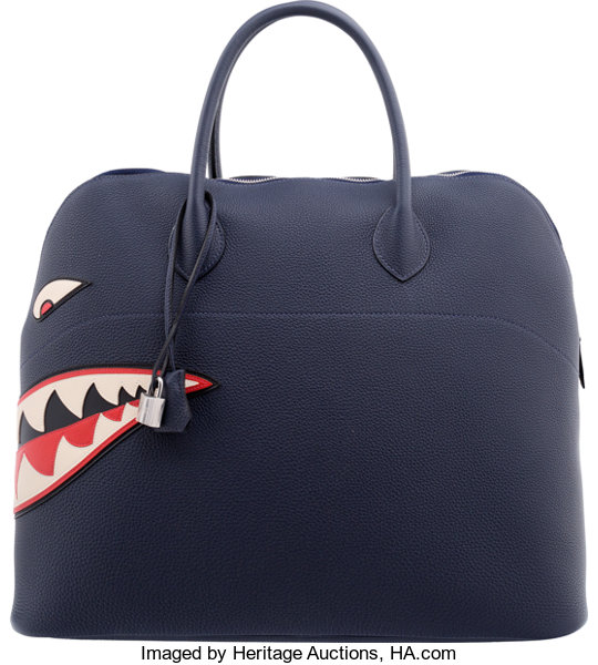 27eaf9aac4 ... inexpensive luxury accessoriesbags hermes 45cm blue nuit togo leather  shark mou bolide bag withpalladium 312b4 6f6bd