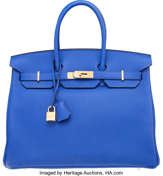 0609e3cf8f ... get luxury accessoriesbags hermes 35cm blue electric togo leather  birkin bag with goldhardware. 09150 ba0b1