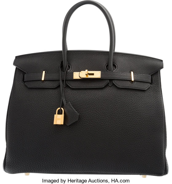 c38ac939b7 ... promo code luxury accessoriesbags hermes 35cm black togo leather birkin  bag with gold hardware. cdfd3