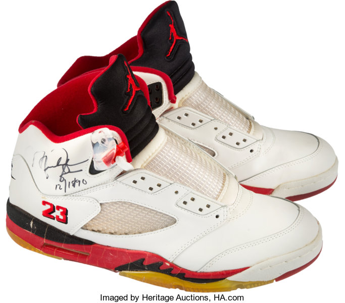 51a6c98ed3be8e ... discount code for basketball collectiblesothers 1990 91 michael jordan  dual signed air jordan v df0ee cdc30