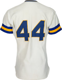 5a2f7feb ... france baseball collectiblesuniforms 1976 hank aaron game worn milwaukee  brewers jersey. c862d 07a0b