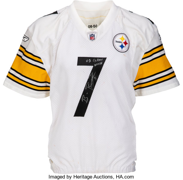 new style 984df 5c775 top quality ben roethlisberger signed jersey 3a83e d1859
