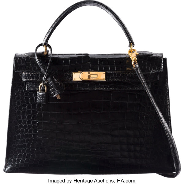 b7ab4539a5cd ... where can i buy luxury accessoriesbags hermes 32cm shiny black  crocodile sellier kelly bag with goldhardware