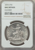 Trade Dollars: , 1874-S T$1 -- Cleaned -- NGC Details. Unc. NGC Census: (17/205). PCGS Population: (17/245). MS60. Mintage 2,549,000. ...