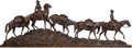 Sculpture, Tim Shinabarger (American, b. 1966). Headed for High Country, 2007. Bronze with brown patina. 21-1/2 inches (56.6 cm) hi...