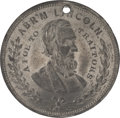"""Political:Tokens & Medals, Abraham Lincoln: """"A Foe to Traitors"""" Token...."""