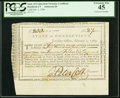 Colonial Notes:Connecticut, Connecticut Treasury Certificate £200 February 1, 1789 AndersonCT-26 PCGS Extremely Fine 45, CC.. ...