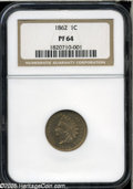 Proof Indian Cents: , 1862 1C PR64 NGC....
