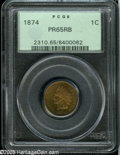 Proof Indian Cents: , 1874 1C PR65 Red and Brown PCGS....