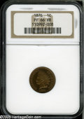 Proof Indian Cents: , 1876 1C PR66 Red and Brown NGC....