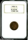 Proof Indian Cents: , 1878 1C PR65 Red NGC....