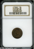 Proof Indian Cents: , 1883 1C PR67 Red and Brown NGC....